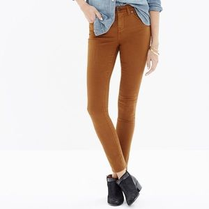 High rise skinny sateen jeans